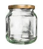 Κλειστό βάζο γυαλιού με το καπάκι στοκ φωτογραφία