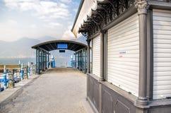 Κλειστό γραφείο εκδόσεως εισιτηρίων Στοκ Φωτογραφίες