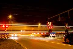 Κλειστό εμπόδιο στο πέρασμα σιδηροδρόμων Στοκ εικόνες με δικαίωμα ελεύθερης χρήσης