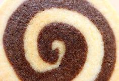 Κλειστό επάνω νόστιμο βουτύρου μπισκότο στροβίλου βανίλιας και σοκολάτας, για το υπόβαθρο Στοκ Φωτογραφίες