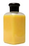Κλειστό καλλυντικό ή πλαστικό μπουκάλι υγιεινής του πηκτώματος, υγρό σαπούνι, λοσιόν, κρέμα, σαμπουάν η ανασκόπηση απομόνωσε το λ Στοκ Εικόνες