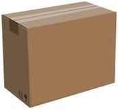 Κλειστό κουτί από χαρτόνι που απομονώνεται. Απεικόνιση Στοκ εικόνα με δικαίωμα ελεύθερης χρήσης