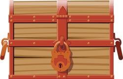 Κλειστό ξύλινο στήθος απεικόνιση αποθεμάτων