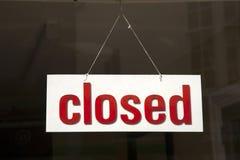 κλειστό σημάδι Στοκ Φωτογραφία
