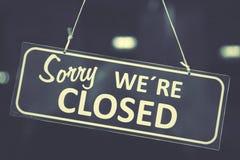 κλειστό σημάδι Στοκ εικόνα με δικαίωμα ελεύθερης χρήσης