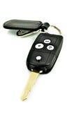 Κλειδί αυτοκινήτων με το ραδιόφωνο μακρινό και την ετικέττα δέρματος Στοκ φωτογραφία με δικαίωμα ελεύθερης χρήσης