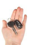 Κλειδί αυτοκινήτων με το συναγερμό Στοκ Εικόνα