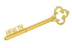 Κλειδί για την έννοια υγείας, τρισδιάστατη απόδοση Στοκ φωτογραφία με δικαίωμα ελεύθερης χρήσης
