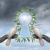 Κλειδί για την ειρήνη Στοκ εικόνα με δικαίωμα ελεύθερης χρήσης