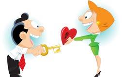 Κλειδί για την καρδιά Στοκ εικόνα με δικαίωμα ελεύθερης χρήσης
