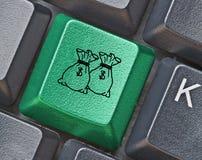 κλειδί για το ηλεκτρονικό εμπόριο Στοκ Εικόνες