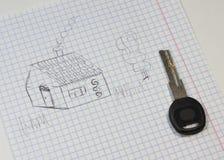 Κλειδί για το νέο σπίτι Στοκ φωτογραφία με δικαίωμα ελεύθερης χρήσης
