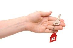 Κλειδί εκμετάλλευσης χεριών Στοκ Φωτογραφία