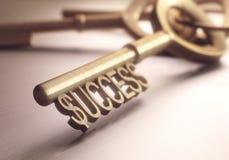 Κλειδί επιτυχίας Στοκ φωτογραφία με δικαίωμα ελεύθερης χρήσης