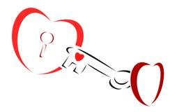 κλειδί καρδιών για Στοκ φωτογραφία με δικαίωμα ελεύθερης χρήσης