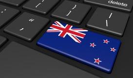 Κλειδί κουμπιών υπολογιστών της Νέας Ζηλανδίας Στοκ Εικόνες