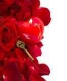 Κλειδί με την καρδιά κεριών Στοκ εικόνες με δικαίωμα ελεύθερης χρήσης