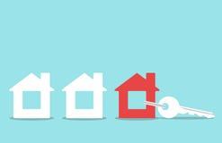 Κλειδί με το κόσμημα μικρής αξίας σπιτιών στοκ εικόνες με δικαίωμα ελεύθερης χρήσης