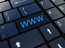 Κλειδί πληκτρολογίων WWW Στοκ εικόνες με δικαίωμα ελεύθερης χρήσης