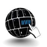 Κλειδί πληκτρολογίων WWW Στοκ Εικόνα