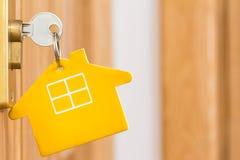 Κλειδί σε μια κλειδαριά πορτών Στοκ φωτογραφία με δικαίωμα ελεύθερης χρήσης