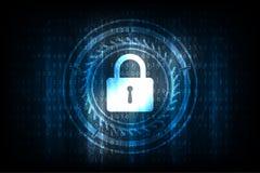 Κλειδί στην έννοια ασφάλειας στο σκούρο μπλε υπόβαθρο Στοκ Φωτογραφία