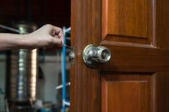 Κλειδαράς για την επισκευή lockpicker Στοκ Εικόνες