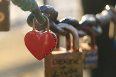 Κλειδαριά αγάπης - Λίβερπουλ Στοκ Εικόνες