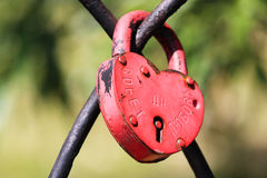 Κλειδαριά αγάπης Στοκ Φωτογραφία