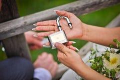 Κλειδαριά αγάπης στοκ εικόνες