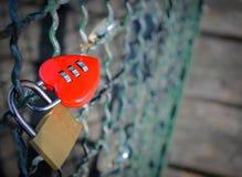 Κλειδαριά αγάπης Στοκ φωτογραφία με δικαίωμα ελεύθερης χρήσης