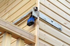 Κλειδαριά ασφάλειας καλυβών παραλιών Στοκ φωτογραφίες με δικαίωμα ελεύθερης χρήσης
