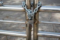 Κλειδαριά αλυσίδων Στοκ φωτογραφία με δικαίωμα ελεύθερης χρήσης