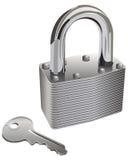 Κλειδαριά και κλειδί Στοκ Εικόνες