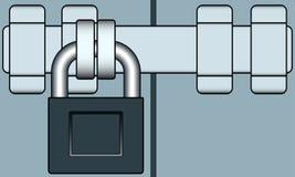 Κλειδαριά και φραγμός Στοκ Εικόνα