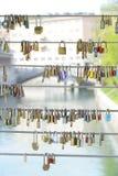 Κλειδαριά μαξιλαριών αγάπης Στοκ φωτογραφίες με δικαίωμα ελεύθερης χρήσης