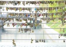 Κλειδαριά μαξιλαριών αγάπης Στοκ Εικόνες