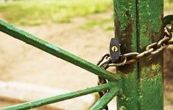 Κλειδαριά με μια αλυσίδα Στοκ Εικόνα