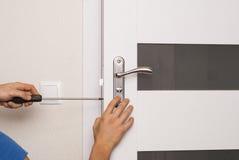 Κλειδαριά πορτών επισκευής στοκ φωτογραφίες