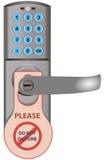 Κλειδαριά πορτών με τις πληροφορίες Στοκ φωτογραφία με δικαίωμα ελεύθερης χρήσης