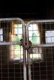 Κλειδαριά πορτών χάλυβα Στοκ φωτογραφίες με δικαίωμα ελεύθερης χρήσης