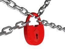 Κλειδαριά σε ένα κύκλωμα Στοκ εικόνες με δικαίωμα ελεύθερης χρήσης