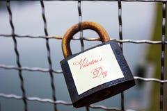 Κλειδαριά στη γέφυρα Στοκ Εικόνα