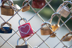 Κλειδαριά της αιώνιας αγάπης Στοκ Φωτογραφίες