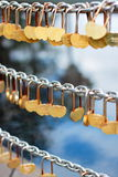 Κλειδαριά των καρδιών Στοκ Εικόνες