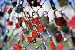 Κλειδαριές αγάπης σε Salzberg, Αυστρία Στοκ Φωτογραφία