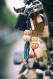 Κλειδαριές αγάπης στο Άμστερνταμ Στοκ Εικόνες