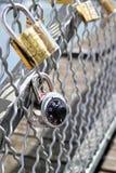 Κλειδαριές αγάπης Στοκ φωτογραφίες με δικαίωμα ελεύθερης χρήσης