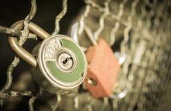 Κλειδαριές αγάπης Στοκ Εικόνες