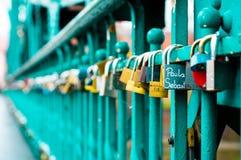 Κλειδαριές αγάπης ` s! Στοκ Φωτογραφία
